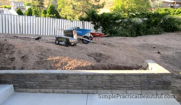 small retaining wall simple
