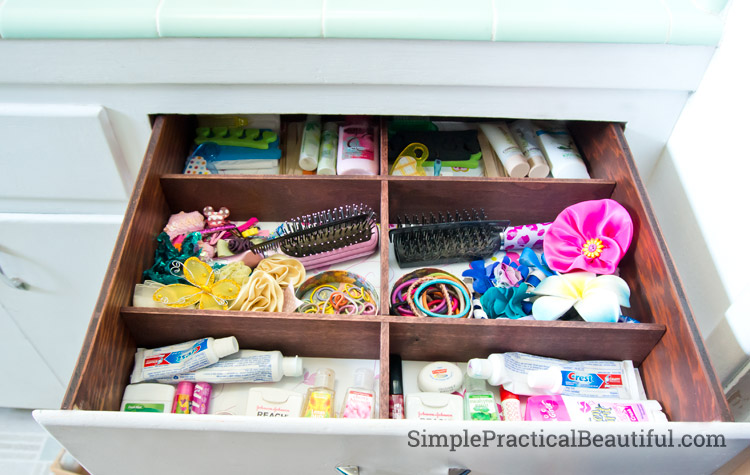 How to DIY a custom bathroom drawer organizer