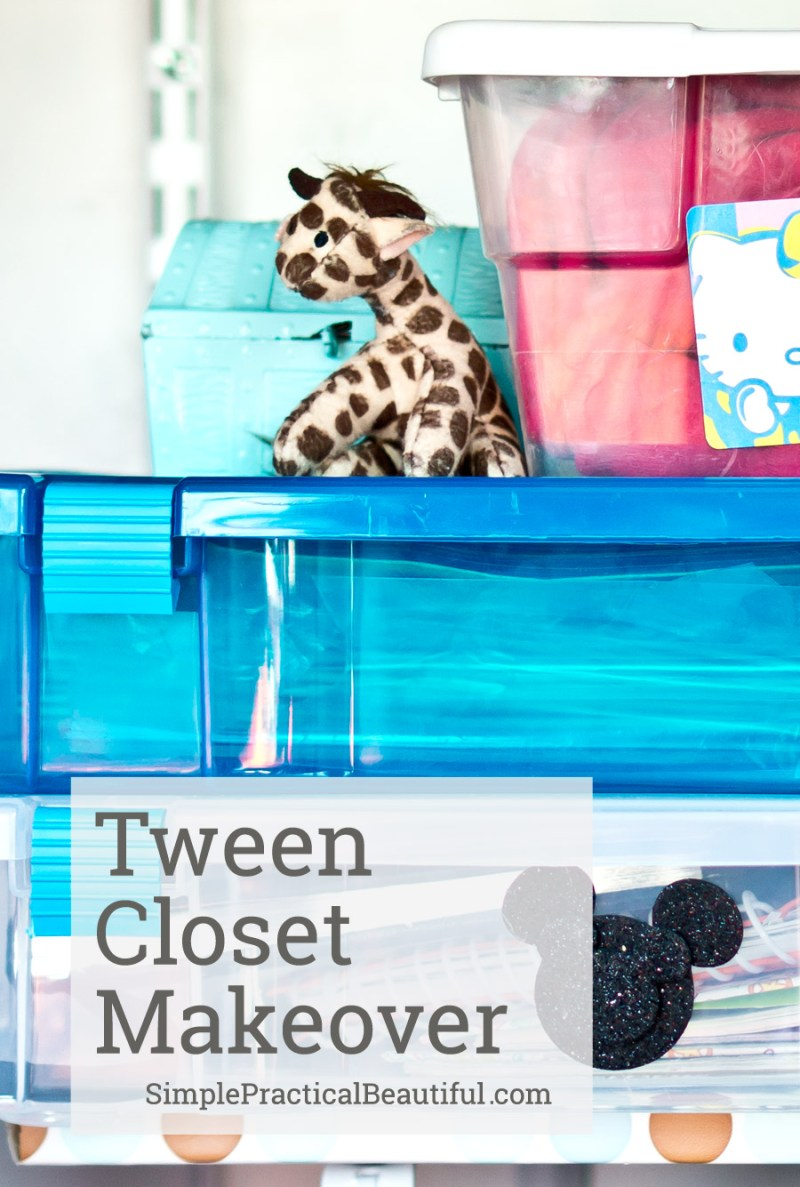 Some great tips about how to redesign your tween's closet