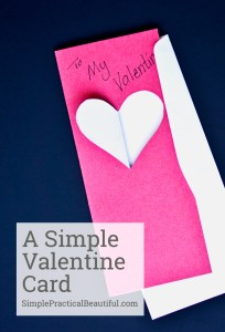A video tutorial showing how to make a simple, handmade Valentine card