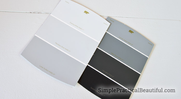 Use Behr Hematite to create a faux metal finish