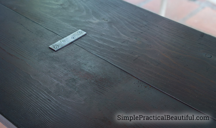 Create a faux metal look on wood with paint