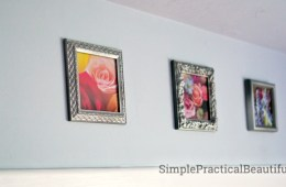 A gallery of small frames