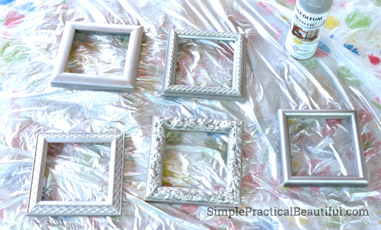 spray paint the frames silver