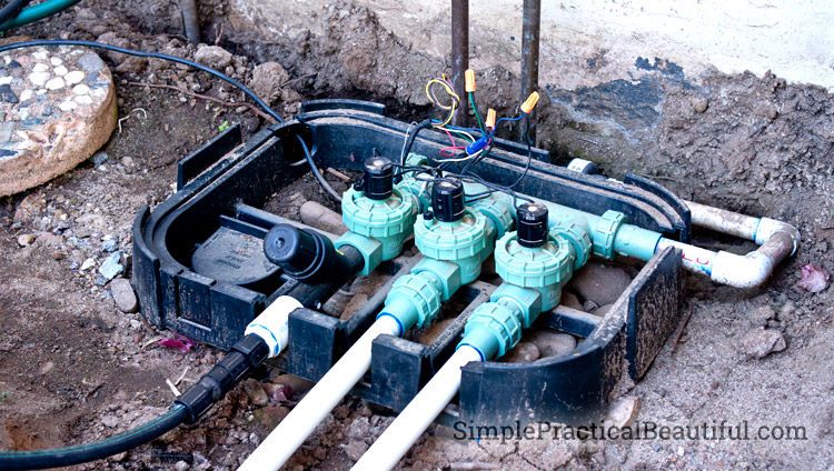 Irrigation valves for a drip system and a sprinkler system