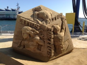 The U.S. Sand Sculpture Challenge has incredible three-dimensional artwork made of sand