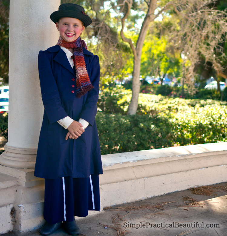 Mary Poppins Halloween costume for girls or tweens