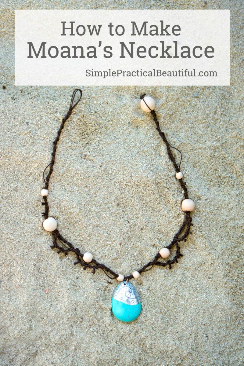 How to make Moana's necklace with hemp tutorial, and how to make a charm that looks like Moana's locket. DIY jewelry and a gift idea.