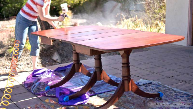 How to restore furniture, like this vintage mid-century table, to its original beauty