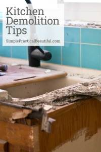 Kitchen demolition tips and ideas on problems that arise