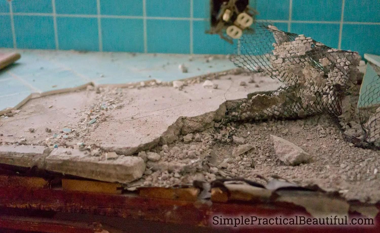 kitchen demolition simple practical