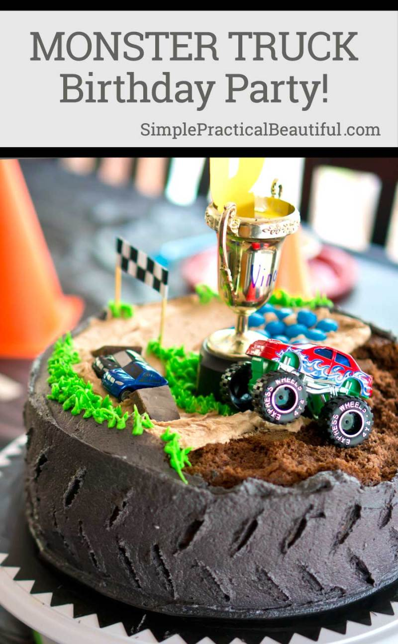 Monster Truck Birthday Party - Simple Practical Beautiful