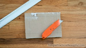 Create a butterfly patch as a sturdy repair for a hole in the wall