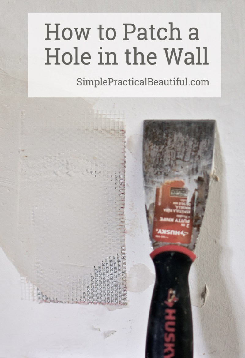 How to patch a hole in the wall | tutorial for any size hole, small or large | easy to follow method for repairing a hole in the wall