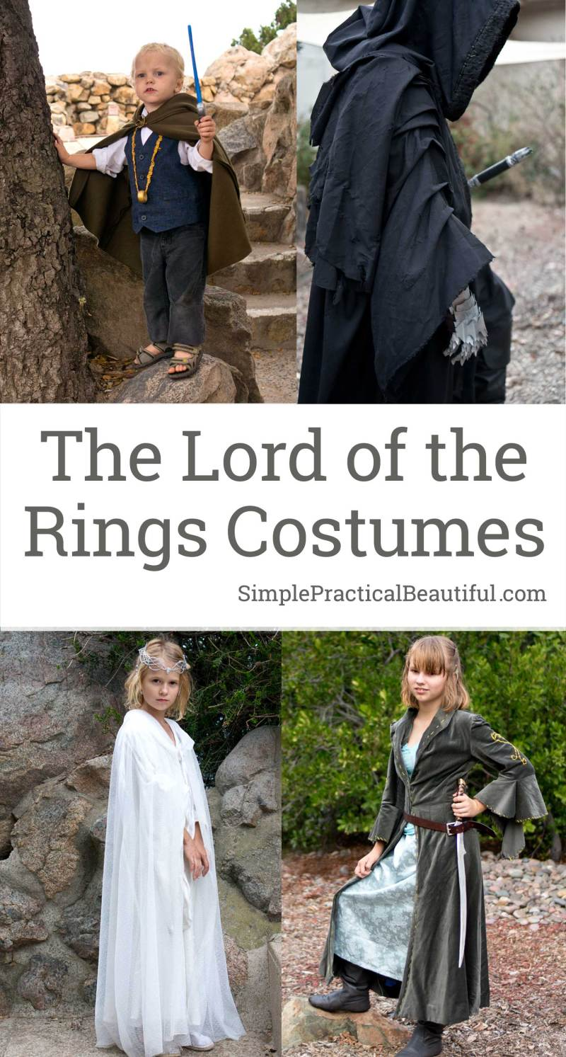 How to make costumes from the Lord of the Rings diy, including Frodo, Arwen, Galadriel, Eowyn, A Ringwraith | Costumes, accessories, and weapons | Cosplay | Halloween costume idea