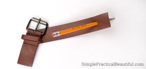 Turn an old belt into a purse clasp