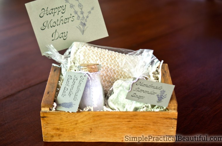 a simple DIY spa gift set