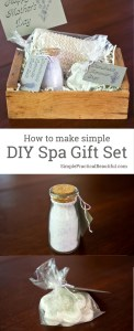 a simple DIY spa gift set | perfect gift for a friend, mother, sister, or daughter | DIY gifts for women | Mother's Day gift | Christmas gift idea
