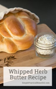 How to make whipped butter with herbs and other flavors | herb butter recipe | food gift idea | fresh bread and butter #butter #recipe