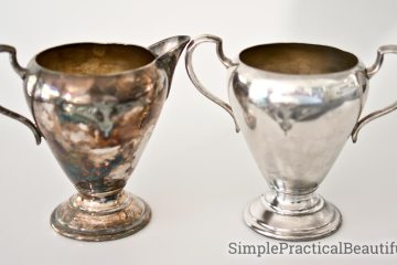 Clean silver decor pieces without using silver polish