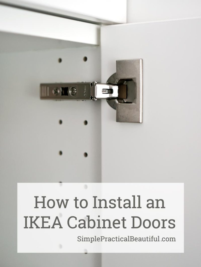 How To Attach An Ikea Sektion Cabinet Door Simple