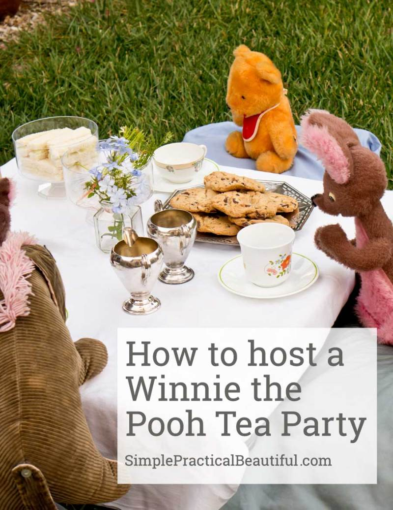 Fun ideas for a Winnie the Pooh tea party based on a scene from the Christopher Robin movie. Cute birthday party idea for any little boy or girl