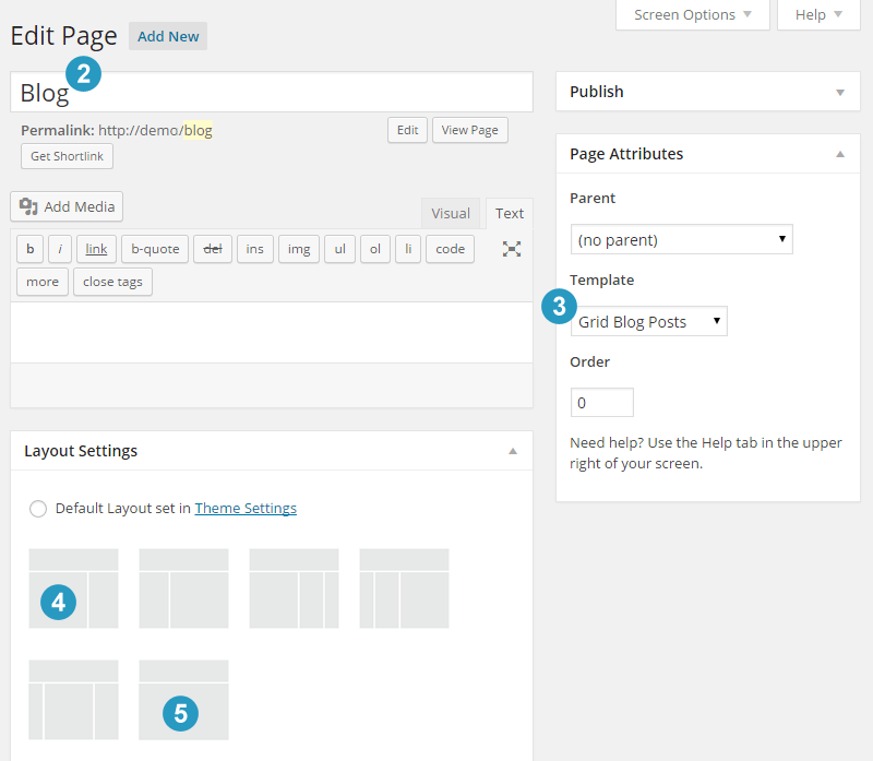 Create Blog Page with 2 or 3 columns