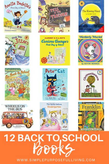 back to school picture book Pinterest pin graphic