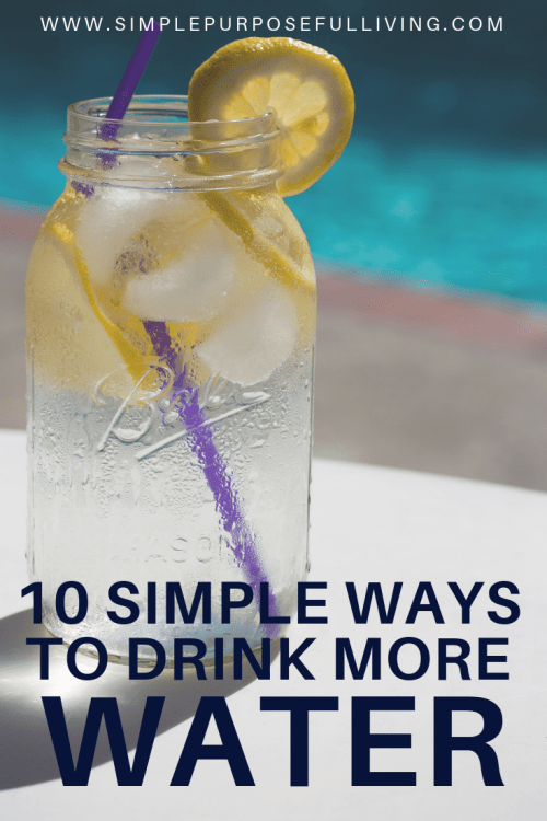 10 simple ways to drink more water