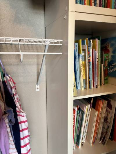 Installing shelves in closet organization