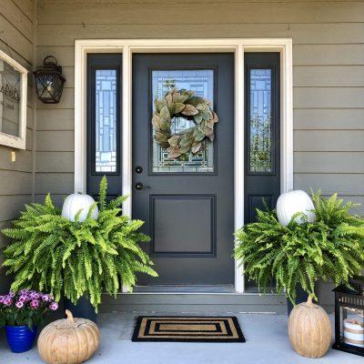 Fresh Fall Front Porch Decor