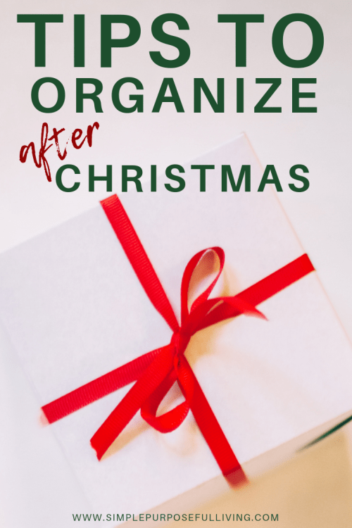 Tips to organize after Christmas