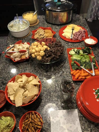 easy party food ideas on counter