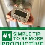 set a timer simple tip to be more productive pin