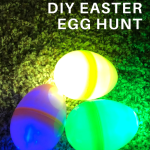 create a glow in the dark easter hunt for children
