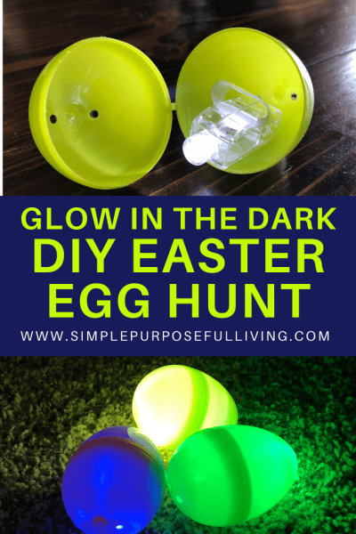 glow in the dark DIY easter egg hunt idea