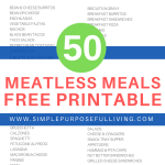 50 easy meatless meals ideas
