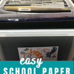 easy school paper organization