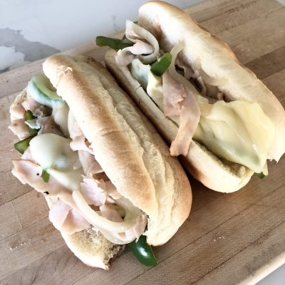 Simple Turkey Philly cheesesteak Sandwich Recipe