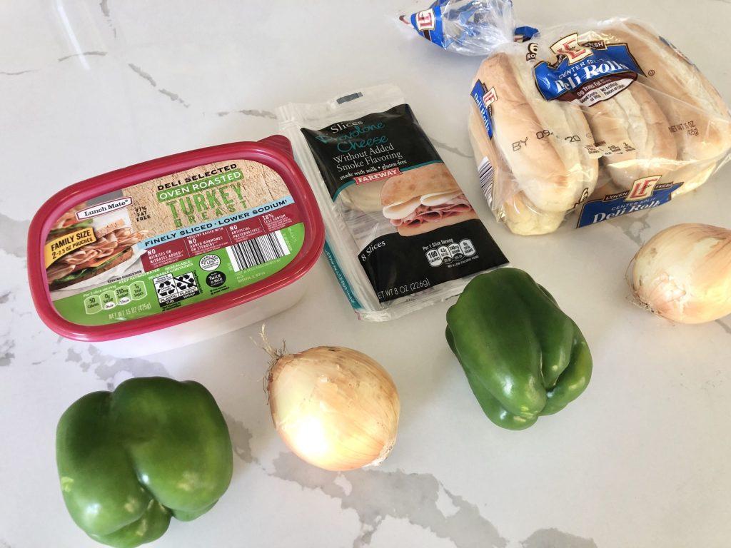turkey cheesesteak sandwich recipe ingredients