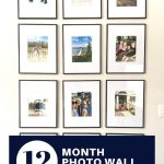 12 month photo wall decor idea