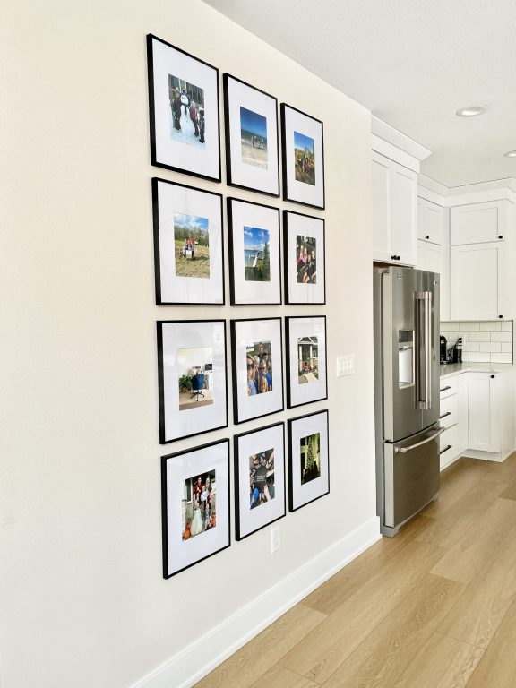 DIY picture collage wall photo frames