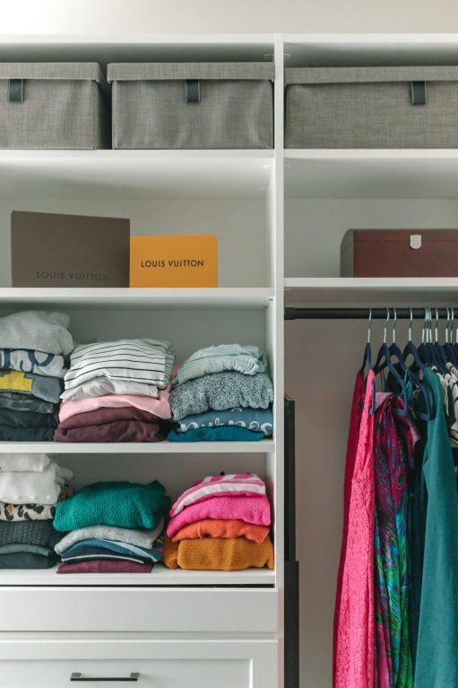 sweater organization master closet