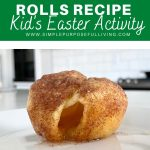 resurrection rolls recipe kid's easter activity
