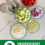 5 ingredient greek salad recipe with cucumbers