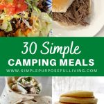 30 simple camping meals