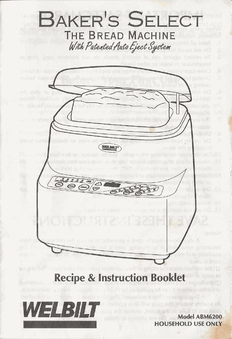 20 Of the Best Ideas for Welbilt Bread Machine Recipes