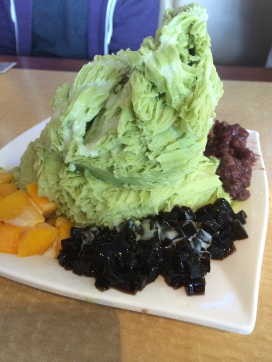 Deliciously Refreshing Green Tea Shaved Snow