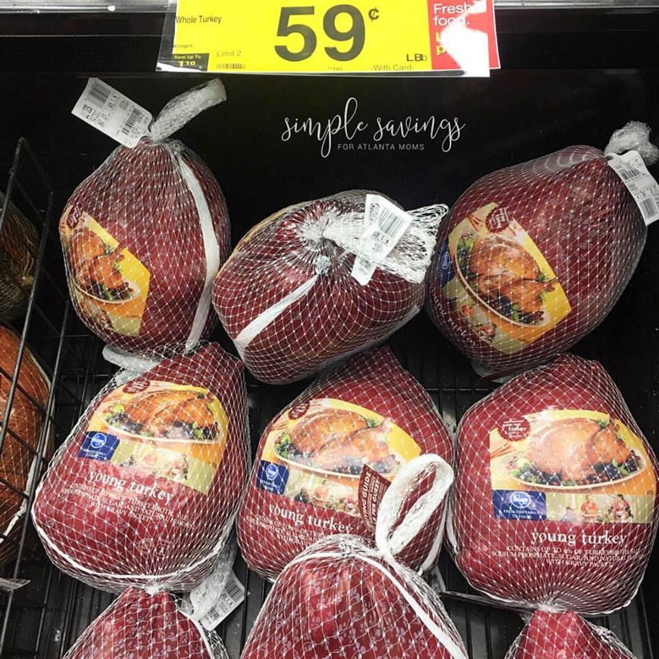 $0.59 each lb Kroger Turkey