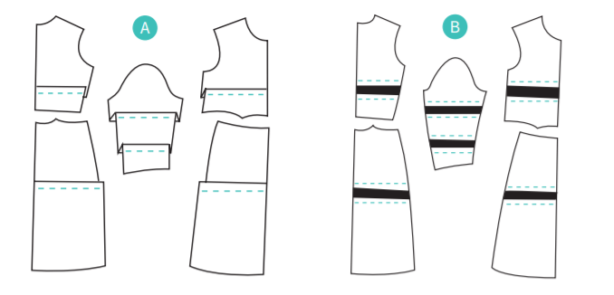 adjusting for height dressmaking